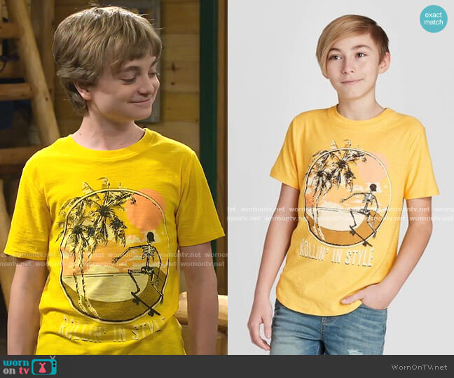 Graphic T-Shirt by Art Class at Target worn by Finn Sawyer (Will Buie Jr) on Bunkd