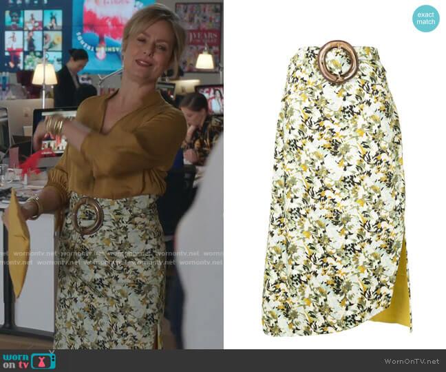 Fadua Skirt and Belt by Silvia Tcherassi worn by Jacqueline (Melora Hardin) on The Bold Type