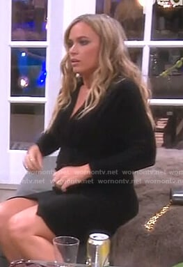 Teddi's black velvet dress on The Real Housewives of Beverly Hills