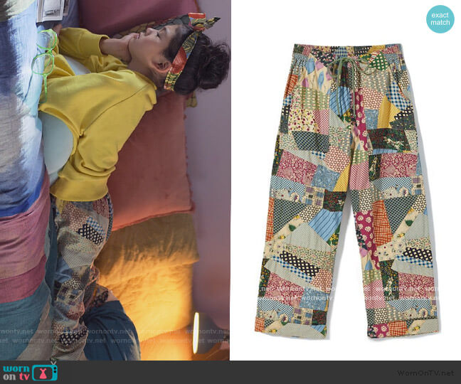 Gertie Patchwork Pants by Kimchi Blue worn by Claudia Kishi (Momona Tamada) on The Baby-Sitters Club