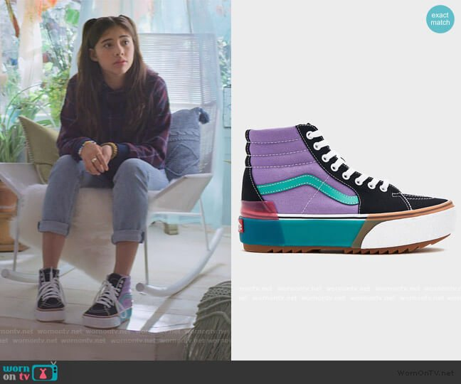 Sk8-Hi Stacked Sneaker by Vans worn by Dawn Schafer (Xochitl Gomez) on The Baby-Sitters Club