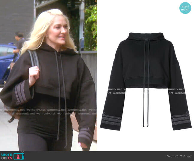 Cropped Hoodie by Vera Wang worn by Erika Girardi  on The Real Housewives of Beverly Hills