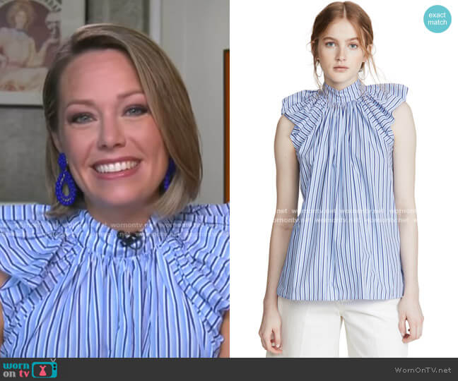 Ruched Shoulder Sleeveless Top by Victoria Victoria Beckham worn by Dylan Dreyer  on Today