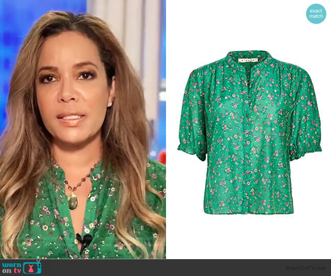 Eden Shirt by Xirena worn by Sunny Hostin  on The View