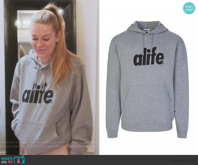 Grey Core Logo Hoodie by Alife worn by Leah McSweeney  on The Real Housewives of New York City