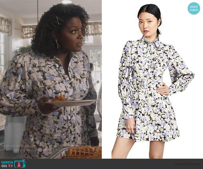 Ninety-Six Shirt Short Dress by Zimmermann worn by Deborah Joy Winans on Greenleaf