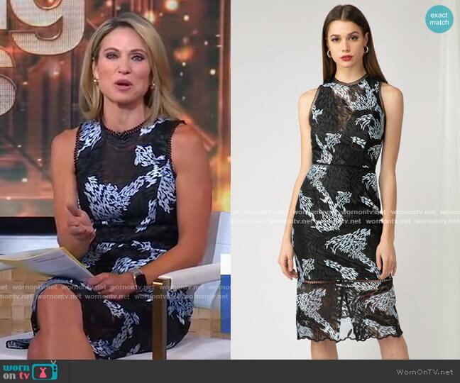Alexandria Sheath Dress by Adelyn Rae worn by Amy Robach  on Good Morning America