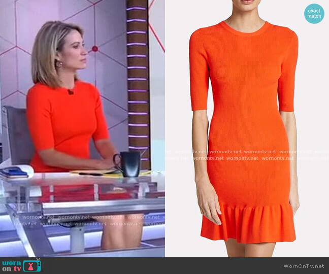 Vance Ruffled Dress by A.L.C. worn by Amy Robach  on Good Morning America