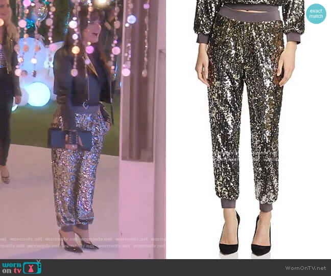 Pete Pants by Alice + Olivia worn by Kyle Richards  on The Real Housewives of Beverly Hills