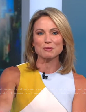 Amy's colorblock sleeveless top on Good Morning America