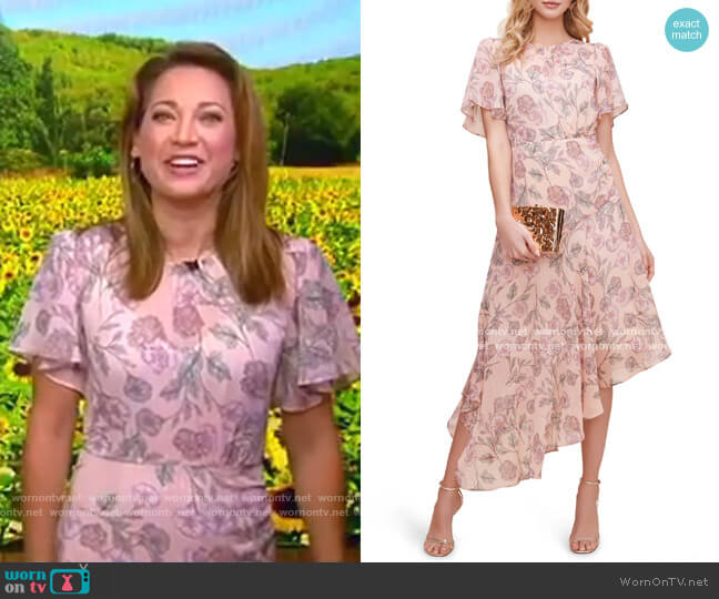 Floral Print Dress by ASTR The Label worn by Ginger Zee  on Good Morning America