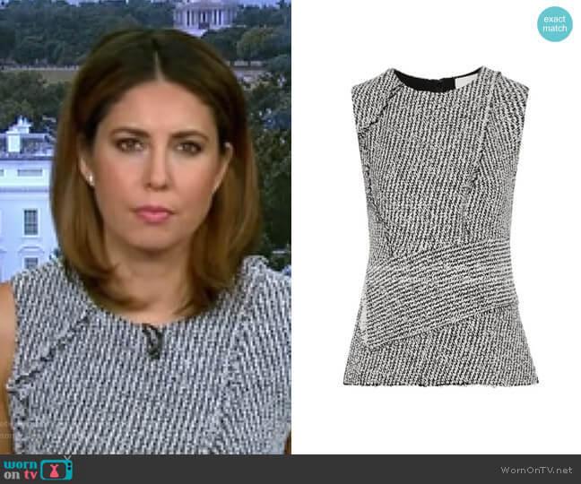 Asymmetric Frayed Bouclé Top by 3.1 Phillip Lim worn by Cecilia Vega  on Good Morning America