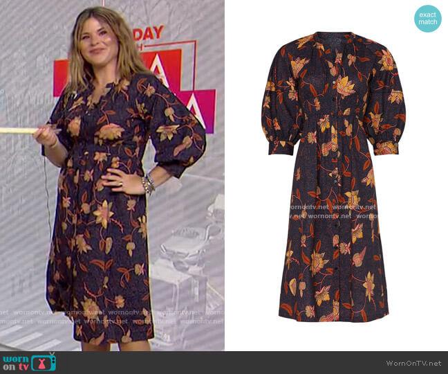 Qyana Dress by Ba&Sh worn by Jenna Bush Hager  on Today