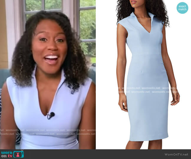 London Sheath Dress by Black Halo worn by Janai Norman  on Good Morning America