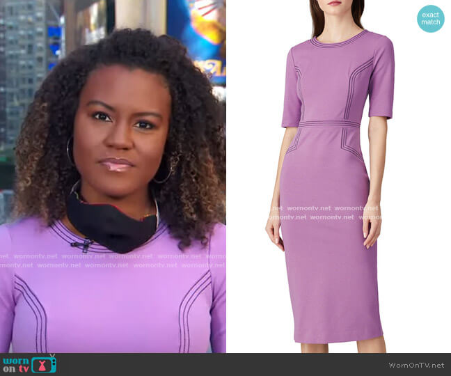 Fitted Ponte Dress by Boden worn by Janai Norman  on Good Morning America