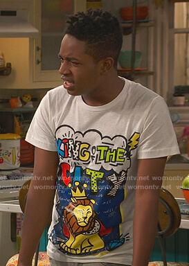 Booker's King of the City graphic print tee on Bunkd