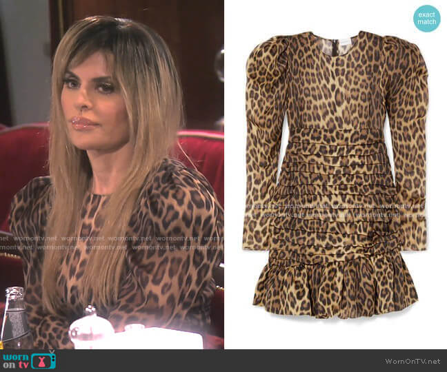 Borneo Dress by Magda Butrym worn by Lisa Rinna  on The Real Housewives of Beverly Hills