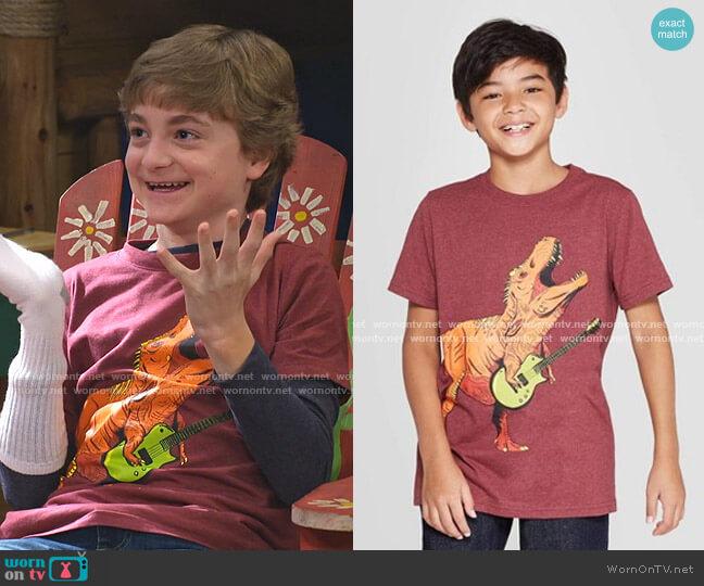 Dinosaur Short-Sleeve Graphic T-Shirt by Cat & Jack worn by Finn Sawyer (Will Buie Jr) on Bunkd