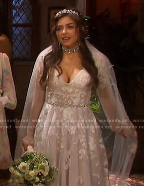 Ciara's wedding dress on Days of our Lives