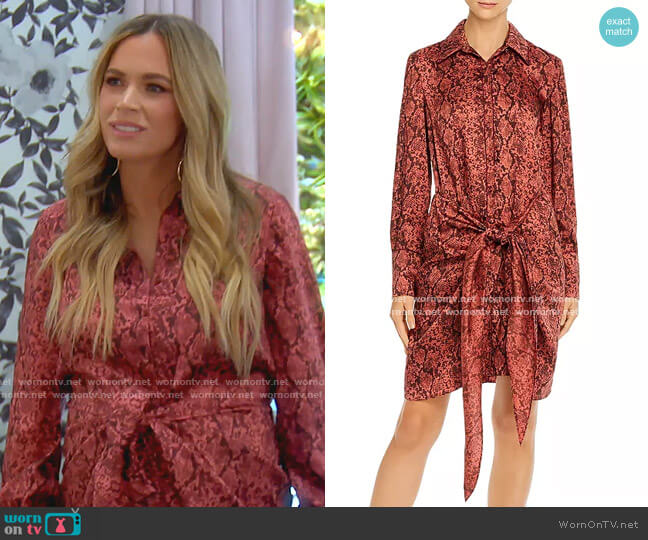 Gaby Snakeskin-Print Dress by Cinq a Sept worn by Teddi Mellencamp Arroyave  on The Real Housewives of Beverly Hills