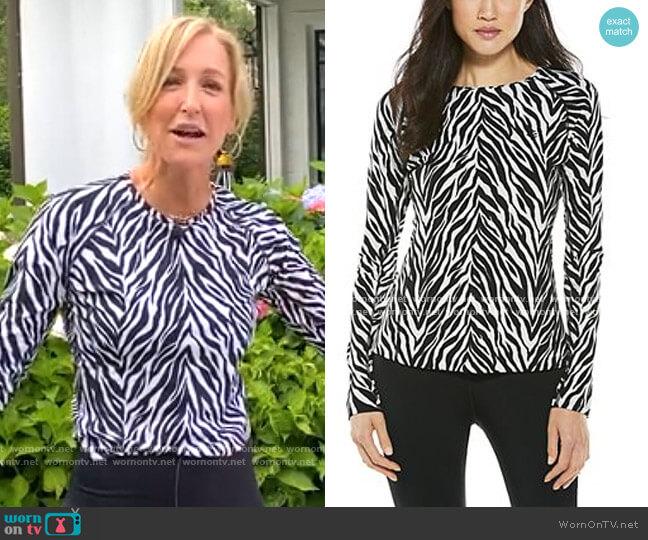 Hightide Long Sleeve Swim Shirt by Coolibar worn by Lara Spencer  on Good Morning America