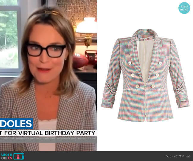 Cosette Dickey Jacket by Veronica Beard worn by Savannah Guthrie  on Today