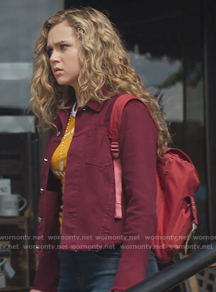 Courtney's red denim jacket on Stargirl
