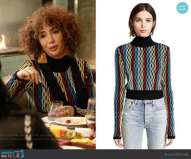 Diane von Furstenberg Cropped Turtleneck Pullover worn by Lucy Neal (Lucy Hale) on A Nice Girl Like You