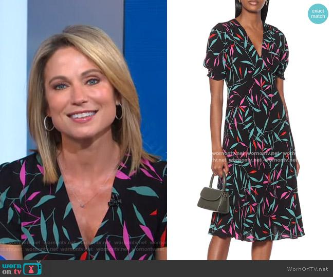 Iris Midi Dress by Diane von Furstenberg worn by Amy Robach  on Good Morning America
