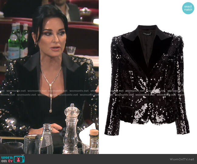 Sequin Blazer by Dolce & Gabbana worn by Kyle Richards  on The Real Housewives of Beverly Hills