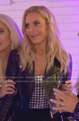 Dorit's studded bustier top on The Real Housewives of Beverly Hills