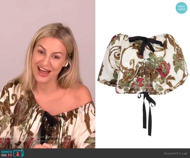 Cixi Top by Dries Van Noten worn by Morgan Stewart  on E! News