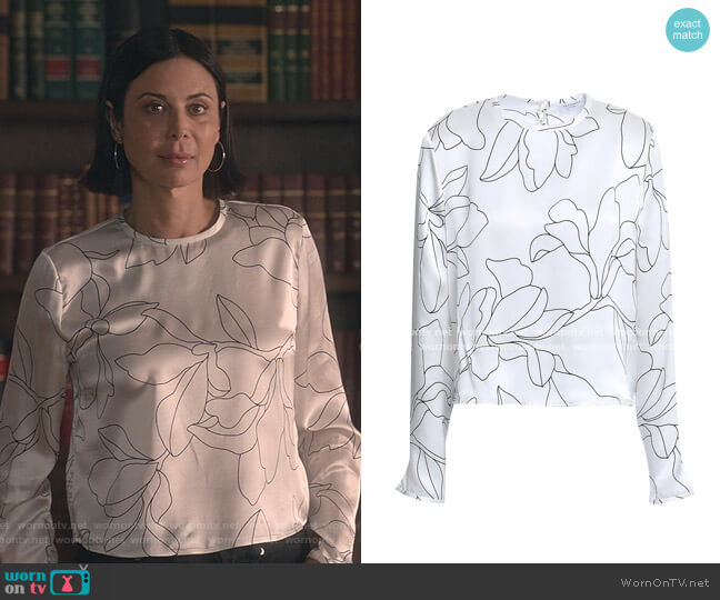 Floral Top by Equipment worn by Cassandra Nightingale (Catherine Bell) on Good Witch
