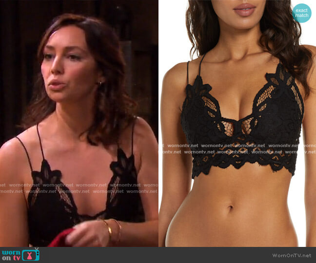 Intimately FP Adella Longline Bralette by Free People worn by Emily O'Brien on Days of our Lives