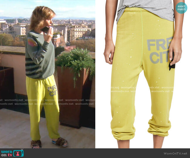 Super Fluff OG Splash Sweats by Freecity worn by Lisa Rinna  on The Real Housewives of Beverly Hills
