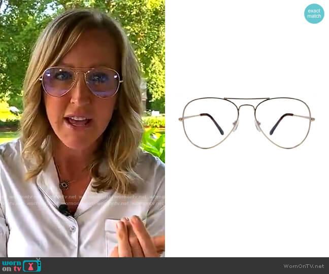 Maverick Gold Eyeglasses by Gabriel Simone worn by Lara Spencer  on Good Morning America