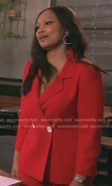Garcelle's red suit on The Real Housewives of Beverly Hills
