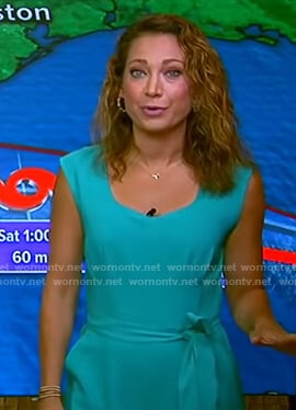 Ginger's green belted jumpsuit on Good Morning America