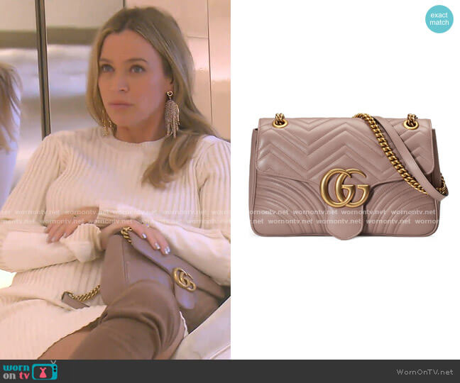 GG Matelasse Leather Shoulder Bag by Gucci worn by Teddi Mellencamp Arroyave  on The Real Housewives of Beverly Hills