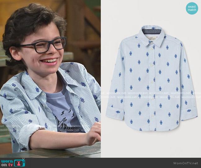 Cotton Shirt by H&M worn by Matteo Silva (Raphael Alejandro) on Bunkd