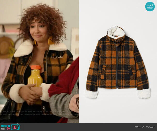 H&M Jacket with Faux Fur Collar worn by Nessa Jennings (Jackie Cruz) on A Nice Girl Like You