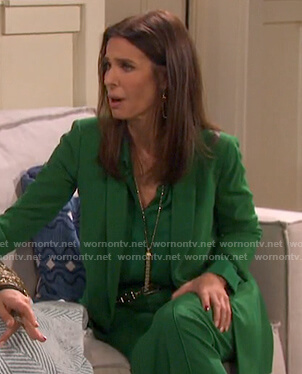 Hope's green suit on Days of our Lives