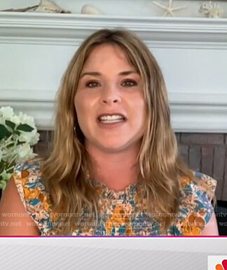 Jenna's floral smocked ruffle dress on Today