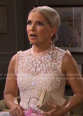 Jennifer's pink embellished tulle dress on Days of our Lives