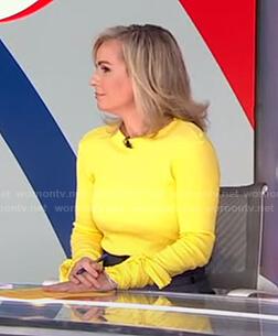 Dr. Jennifer Ashton's yellow tie-sleeve top on Good Morning America