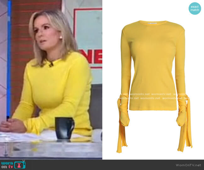 Tie-Detailed Ribbed Cotton-Jersey Top by JW Anderson worn by Dr Jennifer Ashton on GMA