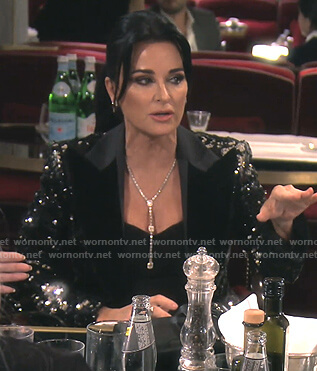 Kyle's black sequin blazer on The Real Housewives of Beverly Hills