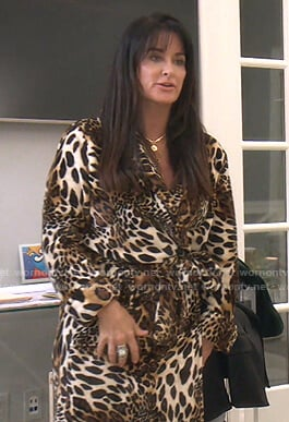 Kyle's leopard print robe on The Real Housewives of Beverly Hills