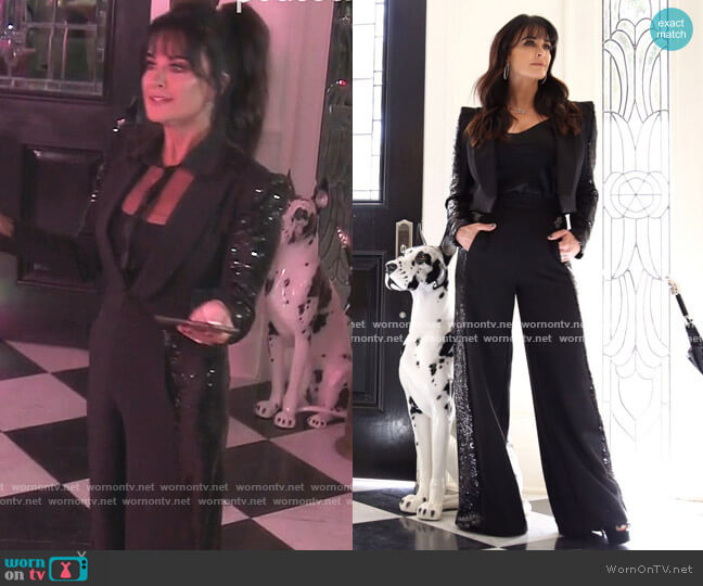 Sequin Suit Set by Kyle x Shahida worn by Kyle Richards  on The Real Housewives of Beverly Hills