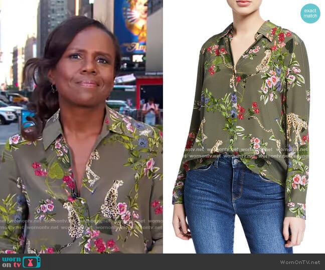 Nina Blouse by L'Agence worn by Deborah Roberts  on Good Morning America